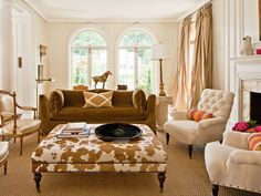 Heidi Semler Interior Design beautiful, sophisticated living room as seen in Luxe Magazine Fall 2013.