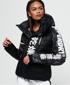 Shop Superdry Womens Japan Edition Snow Down Jacket in Black Camo. Buy now with free delivery from the Official Superdry Store. Superdry Jackets, Jackets Uk, Jackets For Women, Winter Jackets, Womens Snowboard Jacket, Snow Day Outfit, Snowboarding Outfit, Japan, Types Of Sleeves