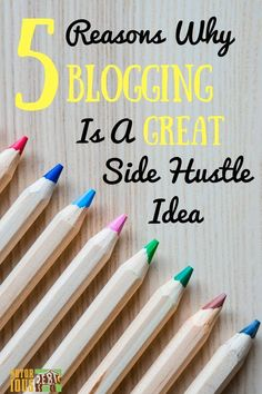 I'm not gonna lie; blogging is HARD work. But, if you persist, it has a lot of things going for it and blogging can be a great side hustle. Just make sure you know what you're getting into!