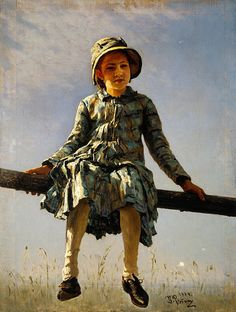 Fichier:Ilya Repin - Dragonfly. Painter's daughter portrait - Google Art Project.jpg