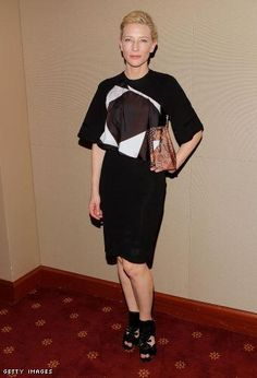 Cate Blanchett wearing Givenchy and Roger Vivier