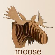 DIY moose head- have to try this one day for my hubby! Danish House, Moose Head, Contemporary Furniture, Paper Art, Den, Origami, Basement, Objects, House Ideas