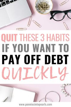 If it isnt already, paying off debt needs to become your number one priority! When you live with debt, you are literally risking the roof being stripped away from your family. Stop these 3 habits and you can start paying off debt quickly. Paying Off Credit Cards, Money Saving Tips, Managing Money, Saving Ideas, Money Hacks, Money Tips, Apps, Debt Payoff, Debt Repayment