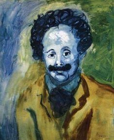 Portrait Picasso, Art Picasso, Picasso Blue, Picasso Paintings, Henri Rousseau, Henri Matisse, Pierre Auguste Renoir, Auguste Rodin, Portraits Cubistes