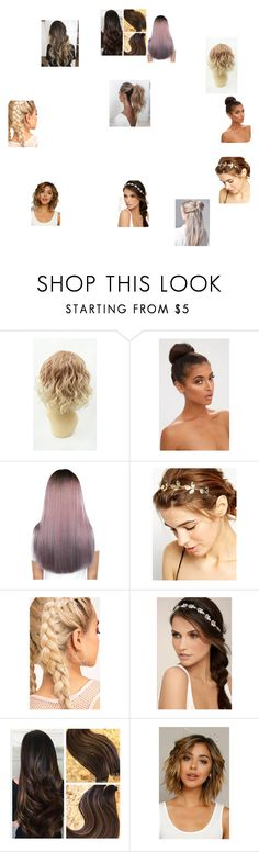 """""""crazy hair dont care short hair dont care long messy oily hair don't care"""" by rubythememe0824 on Polyvore featuring WithChic, LULUS, Fantasia and Love Couture"""