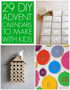 29 DIY Advent Calendars - C.R.A.F.T. We have advent drawers. However, this is a great collection of ideas. There is even a tiny one made of match boxes! I think this might be fun for other applications as well.