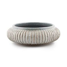 Malinda Reich milky white vessel with dusty blue interior. Wheel thrown, hand carved and fired to cone ten . #stillebenshop