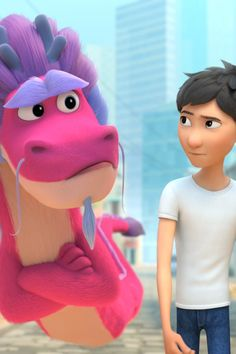 See a Clip From Netflix's Wish Dragon, Out June 11 Space Jam, Childhood Friends, Trailers, Wish, Hilarious, Dragon, Disney, Movies, Films