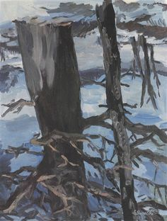 Artwork by Georg Baselitz, The Forest Upside-down, Made of Oil on canvas