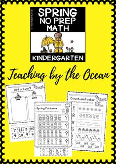 Spring Math NO PREP (kindergarten) - Distance Learning Learning Resources, Fun Learning, Types Of Education, Kindergarten Readiness, Thing 1, Common Core Standards, Elementary Math, Teaching Math, Math Centers