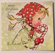 Vintage Christmas Greeting Card Eve Rockwell | eBay