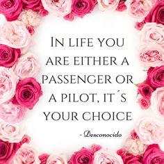 Puedes ser un pasajero ó el piloto de tu vida, es tu elección. Frases de motivación en inglés. - A Feminine LifeStyle -