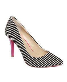 Inc black and white heels