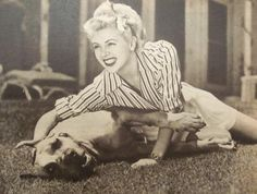 Lana Turner with her beloved Great Dane Billy. #lanaturner #greatdane www.OneMorePress.com