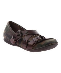 Look at this #zulilyfind! Brown Camo Park Hills Leather Flat #zulilyfinds I need these!