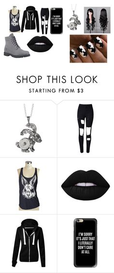 """""""Randomness"""" by kyouya on Polyvore featuring Lime Crime, Casetify and Timberland"""