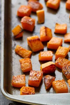 Maple Cinnamon Roasted Butternut Squash makes the perfect easy side dish for fall. Best of all, they're so simple to customize and are vegan, paleo-friendly and gluten free with no refined sugar.