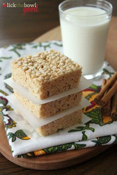 Browned Butter and Cinnamon Spice Rice Krispies Treats