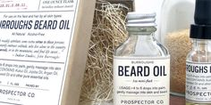 prospector co beard oil gt fashion diary Packaging Design, Branding Design, Product Packaging, Packaging Ideas, Type Design, Graphic Design, Natural Beard Oil, Perfume Packaging, Vintage Type