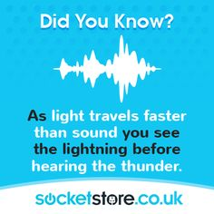 As #light travels faster than sound you see the lightning before hearing the #thunder. #facts #weather #storm #soundwaves