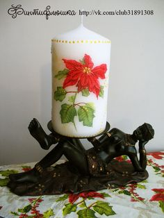 decoupage candles; #decoupage; #terra_hobby; #tutorial