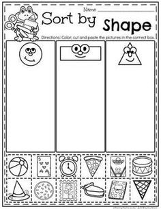 Kindergarten Math Worksheets - Sorting and Data worksheets books Measurement Worksheets - Planning Playtime Measurement Kindergarten, Measurement Worksheets, Kindergarten Classroom, Pre K Math Worksheets, Shape Activities Kindergarten, Shapes Worksheets, Shapes Worksheet Preschool, Free Kindergarten Math Worksheets, Worksheets For Preschoolers