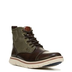 Tommy Hilfiger Men's Ferguson Lace Up Boots (Dark Brown/Army Gree)
