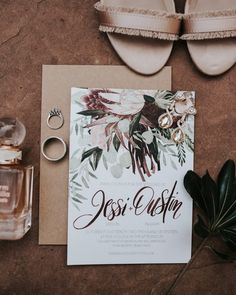 The floral design on this save the date matches the bride's bouquet | Image by Kristen Kaiser #savethedate #invitationinspiration #weddinginvitation #weddinginvite #savethedatedesign #weddingfloraldesign #weddingflowers #ceremony #weddingceremony #weddingdecor #texaswedding #countrywedding #rusticwedding #wedding #weddinginspiration #weddingphotography