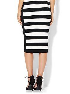 Pull-On Sweater Skirt - Stripe  - New York & Company