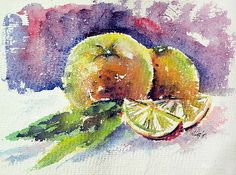 Still life with orange by Kovacs Anna Brigitta