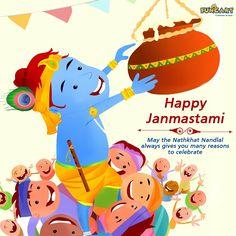 Celebrating Lord Krishna's Birthday, Helps in awakening our spirit and remind us of his presence always. Happy Krishna Janmashtami! www.funcart.in  #Funcart #HappyJanmashtami