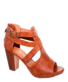Love this Cognac Spring Sandal on #zulily! #zulilyfinds