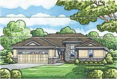 Plan 42211DB: Two Bedroom Ranch Home