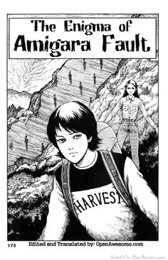 [Junji Ito's Enigma of Amigara Fault Page 1] This short comic legitimately gave me a panic attack, its so scary. #horror #manga i really want people to see this so im tagging it yea