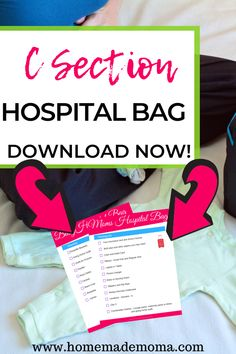 What to pack for planned c section. C section hospital bag for baby, and a packing list for mom to be. Everything you need for scheduled c section along with a free checklist so you won't forget anything. Pregnancy Must Haves, Second Pregnancy, Trimesters Of Pregnancy, Pregnancy Tips, Baby Registry Must Haves, Baby Must Haves, Postpartum Recovery, Postpartum Care, Mom Advice