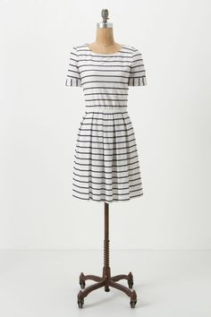 Scalloped Stripes Dress - Anthropologie.com (the stripes are navy)