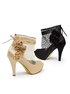 Ohhh my...I want these!!!! Victoria's Secret $129  Love everything about these shoes!!!!