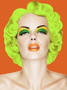 макияж поп арт в стиле портрета мэрилин монро