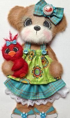 Spring Summer Bird Boutique Girl Tear Bear Paper Piecing ELITE4U 3PAPERWISHES | eBay