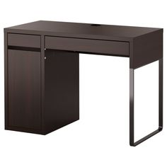 Small Desk with Drawers Ikea Small Writing Desk, Small Office Desk, Ikea Office, Home Office Desks, Office Decor, Small Computer, Computer Desks, Office Table, White Office