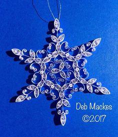 Tubulares de copo de nieve ornamento  4 de diámetro