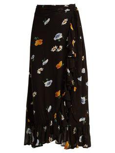 6dd71fa4e706 Dainty georgette floral-print wrap skirt