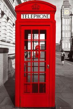 Bestel de Londen - telephone box poster op Europosters.nl
