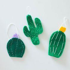 ~ DIY felt cactus ornaments ~