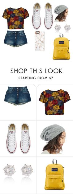 """Summer"" by bre-winter ❤ liked on Polyvore featuring BLANKNYC, Alice + Olivia, Converse, Sole Society, River Island, JanSport and Casetify"