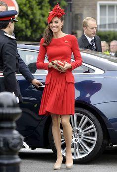 Kate Middleton, Red Alexander McQueen, Diamond Jubilee