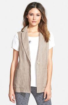 Weekend Max Mara 'Zona' Linen Vest