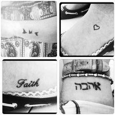 Small tattoos | faith | heart | birds | love/ahava