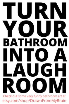 We spend a lot of time in our bathrooms. Why not give your friends a reason to laugh while they're in there? Go to Etsy shop Drawn From My Brain and check out their full range of bathroom humor, including quirky prints, weird art, and funny animal prints. They're also great for birthday gifts, dorm decor, and funny cubicle decor at the office. Your bathroom interior will never be the same! #etsy #etsyshop #bathroomart #bathroomhumor #bathroomideas