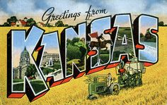 Greetings from Kansas - Large Letter Postcard by Shook Photos, via Flickr